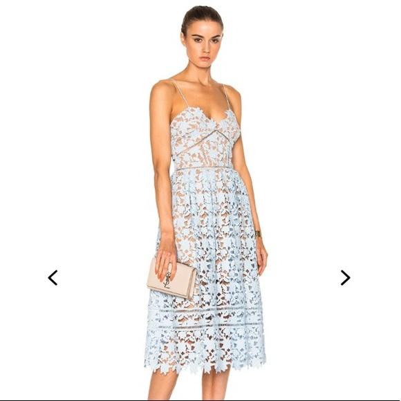 7a587d5606ab3 Self-Portrait Dresses | Self Portrait Azaelea Dress In Sky Blue ...